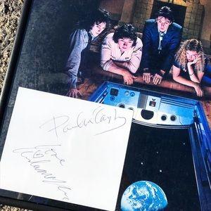 Paul & Linda McCartney Autographed Cut + Record